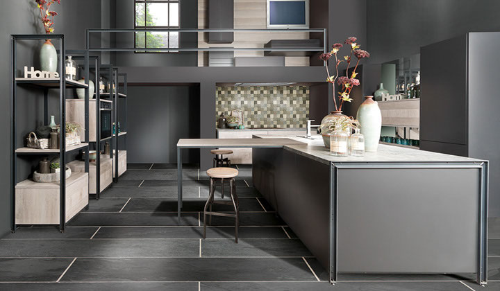 Gray Modern European Kitchen Ideas, GTA