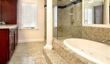 Full bathroom renovation , tiling, shower installation, painting  by QEW Contracting