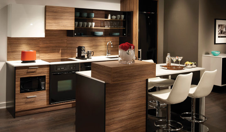 Modern style condo kitchen by Cartier Kitchens, Mississauga