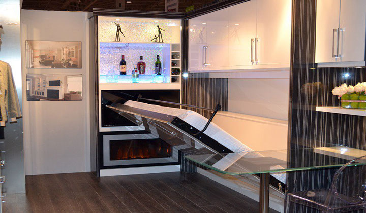 Great space solution by Design to Fit Interiors, wall unit that transforms in to a bed