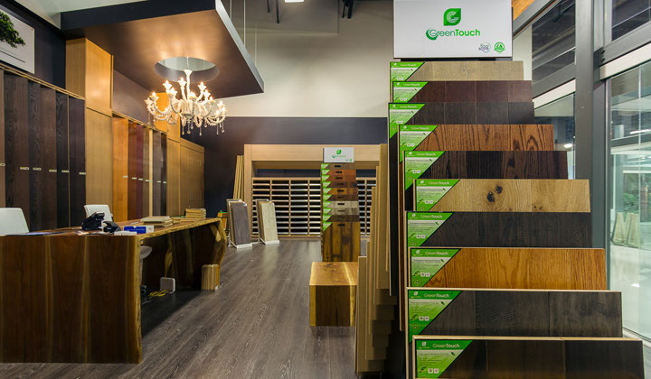 Quality engeniered hardwood and laminate floors, Improve Mall  A + Flooring showroom