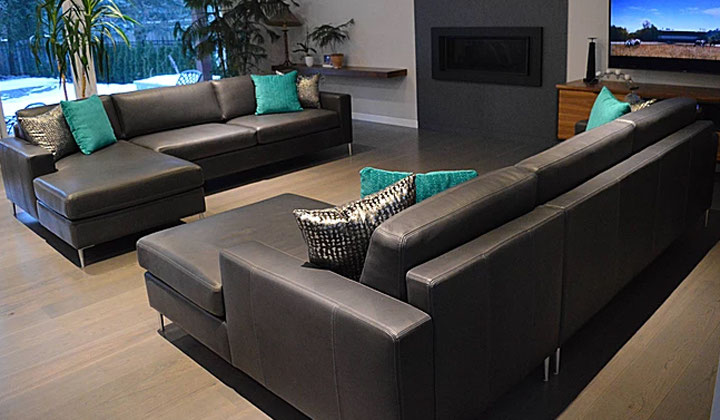 Custom Made Dark Brown Leather Sofas