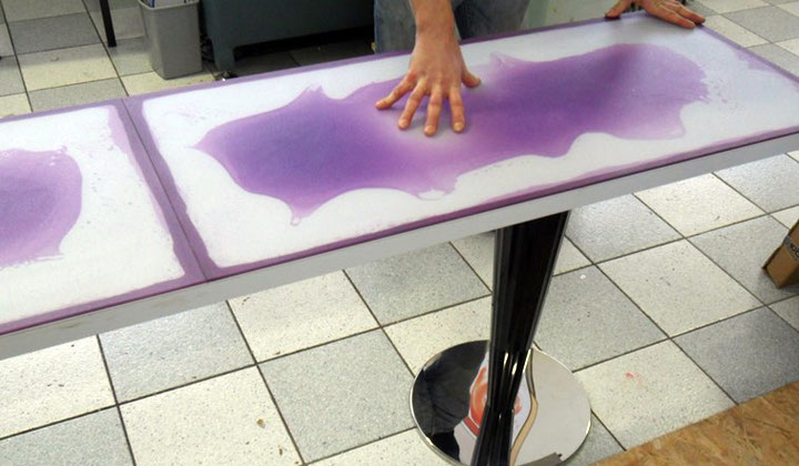 Interactive floor tiles by Bianco by Tiles