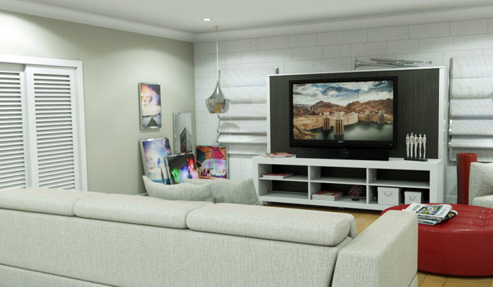 Tv wall unit that coverts into a bed, smart way to save space by Matrix Wallbeds