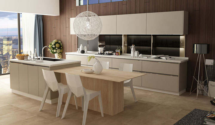 Modern European style kitchen cabinets by Focus Kitchen Cabinetry