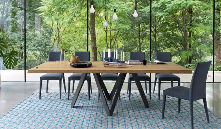 Modern style  7 pc. dining set by Calligaris Vaughan, Improve Mall