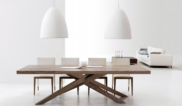 Wood dining table and chairs by Hearty furniture, Vaughan
