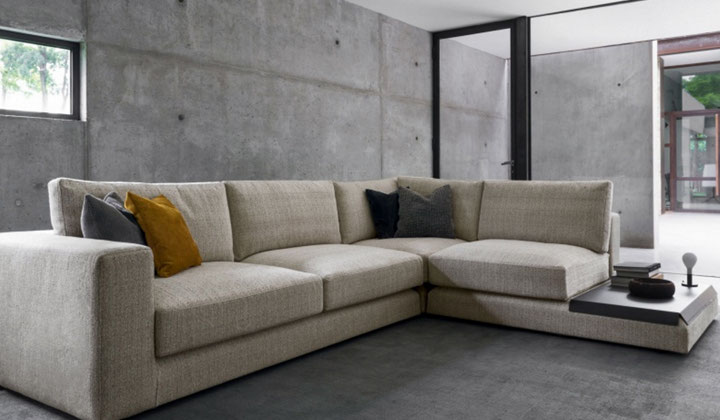 High quallity fabric corner sectional sofa by Calligaris, Toronto