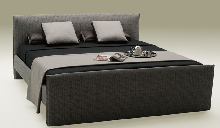 Modern charcoal gray queen bed