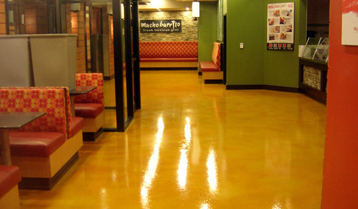 Commercial flooring project, polished concrete by Concrete your way, Toronto