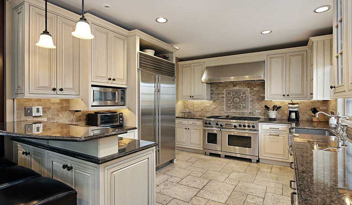 Transitional kitchen champagne color by Lanxin