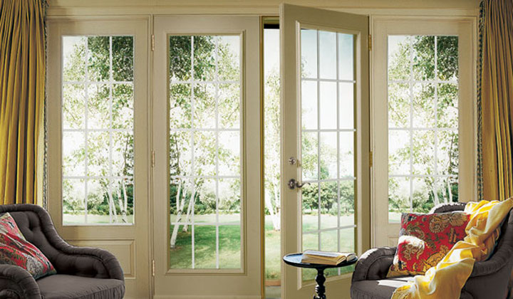 Outdoor walkout French doors dy Enerview Windows & Doors