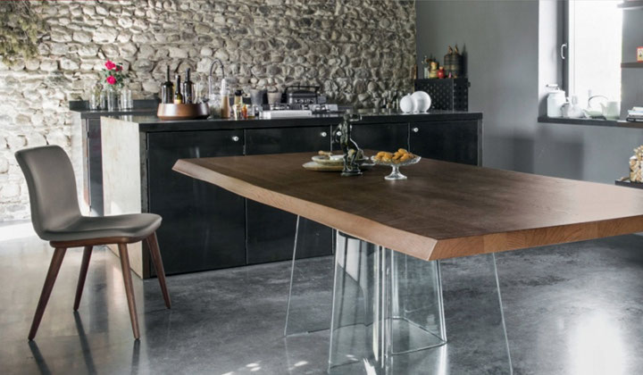 European wood table  by Calligaris Vaughan