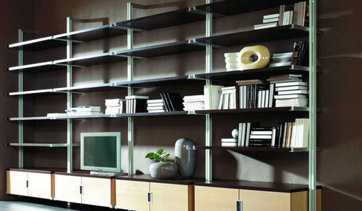 Storage wall units system by Komandor, Vaughan