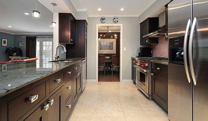 Modern kitchen with stainless steel appliances, Vaughan