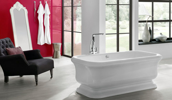 Luxury retro style freestanding tub
