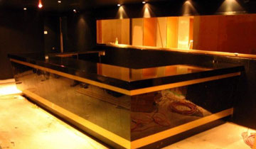 Reception desk renovation, granite reception area by Sinco Marble & Granite