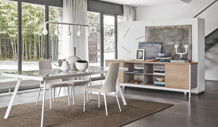High end European furniture , dining set and tv stand by Calligaris, Vaughan
