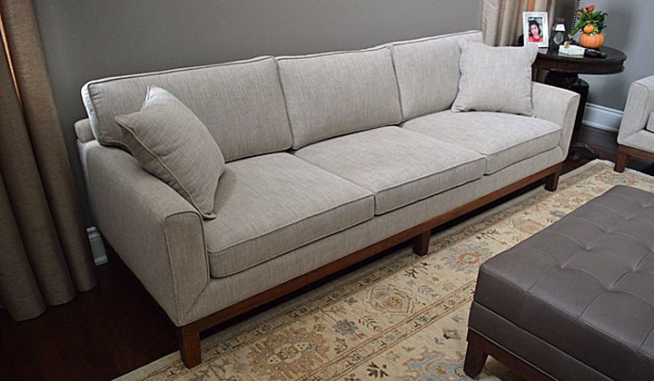 Custom Made Three Sitter Sofa With Cushions By Ideal Canada