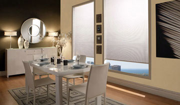 Fabric roll down window coverings by Amazing Window Fashions, Toronto