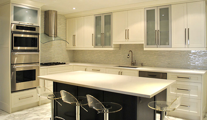 White modern kitchen make over by Joseph Kitchens, GTA