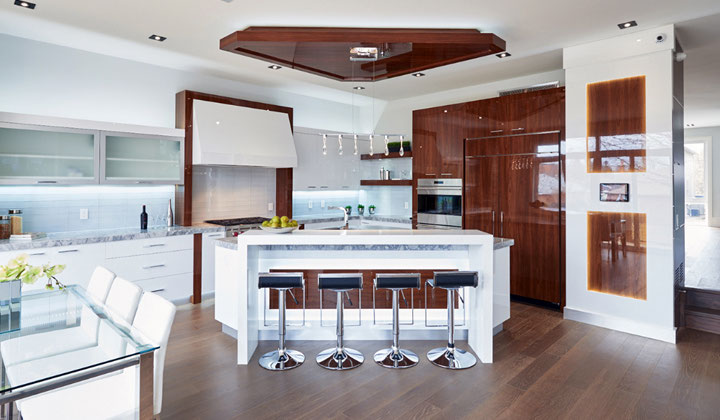 Modern glossy kitchen design and installation by Chooka Kitchens