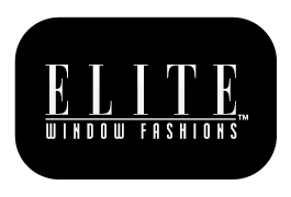 ELITE Window Fashions. Logo