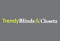 Trendy Blinds And Closets. Logo
