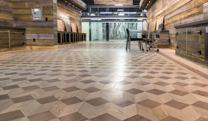 3 Trees Hardwood flooring showroom at Improve Mall, Latest technology for hardwood floors
