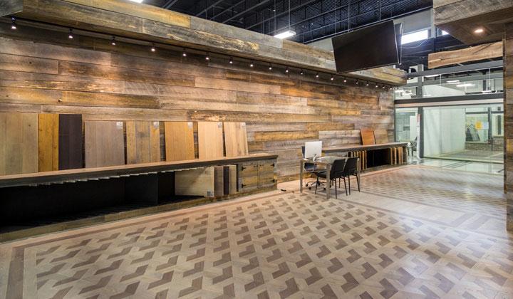 Three trees hardwood flooring at improve canada for Hardwood floor showroom