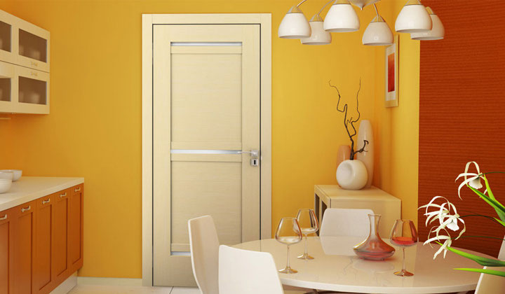 Beige color light wood interior door, European designer doors, Toronto