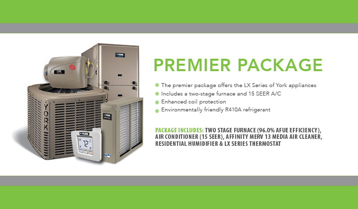 Premier Package two staged furnace, LX series  YORK appliances