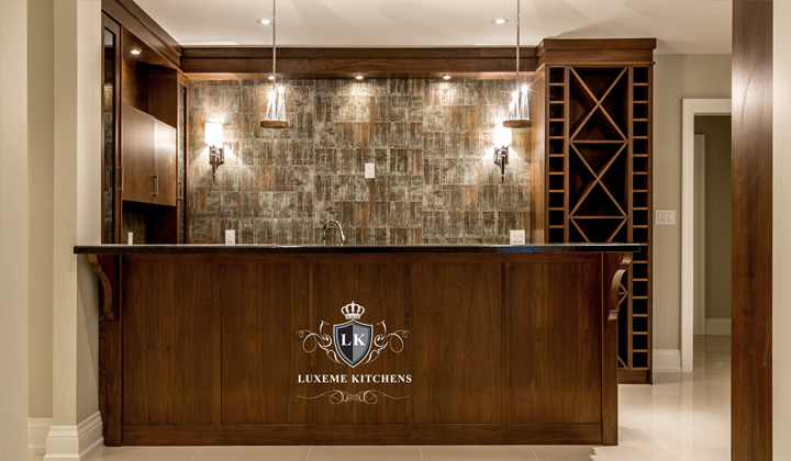 Traditional Walnut cabinets Bar, GTA