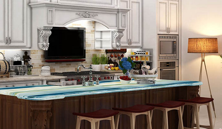 3D Rendering design, White Traditional Kitchen by Tobi, Vaughan