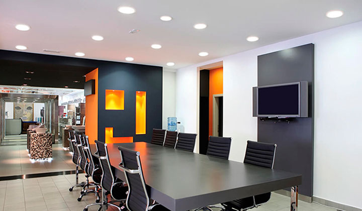 Energy efficient office lighting by AB Electrical