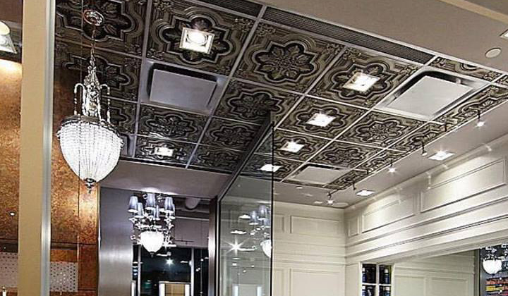 Modern decorative ceiling tile , office space