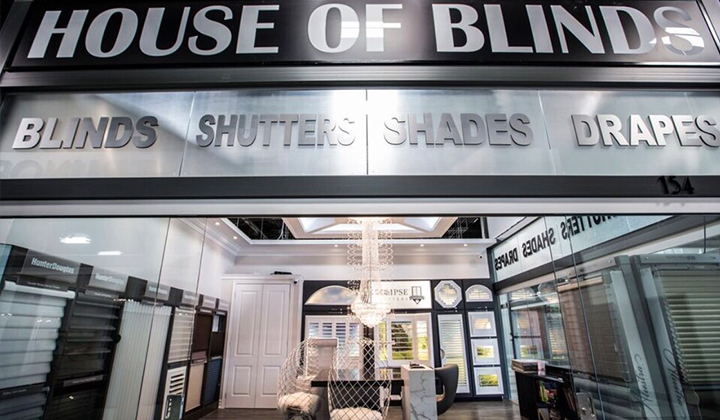 House of Blinds showroom at Improve Mall Unit # 154