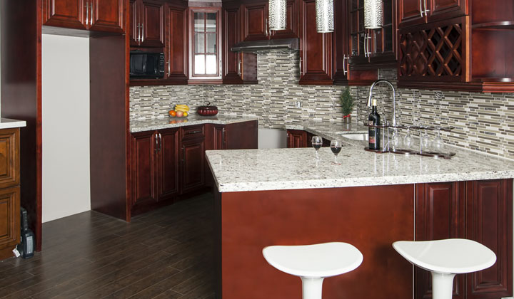 Cherry Kitchen cabinets by Cozy Home