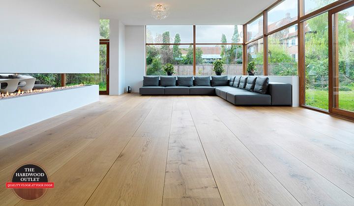 Wide Plank Hardwood Flooring - Directed to sunlight - Modern Design home