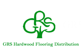 GRS Hardwood flooring distribution. Logo