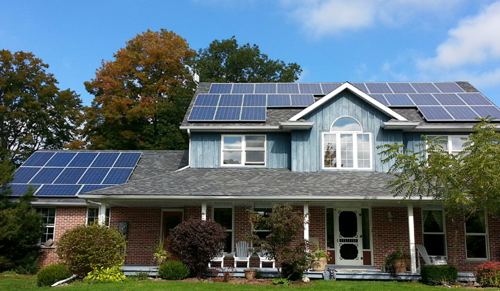 """Solar panel covered roof, Etobicoke Saving energy is saving money"""