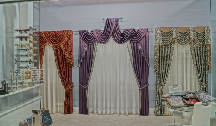 World Interior Decor showroom , custom draperies and window treatments