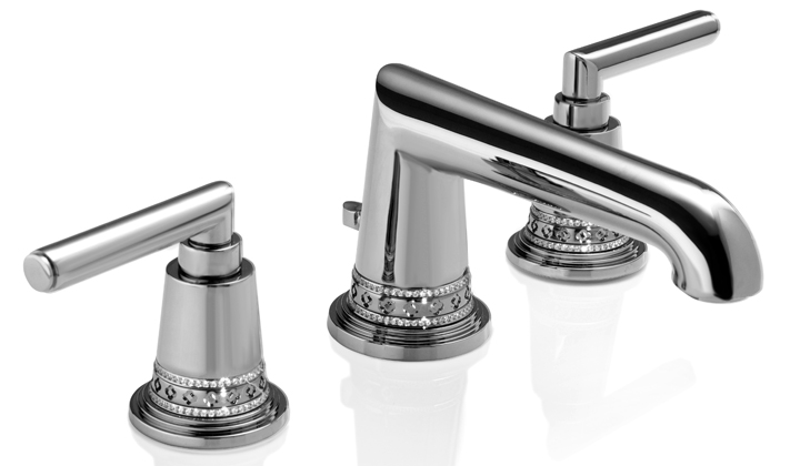 Luxury jeweled vanity faucet