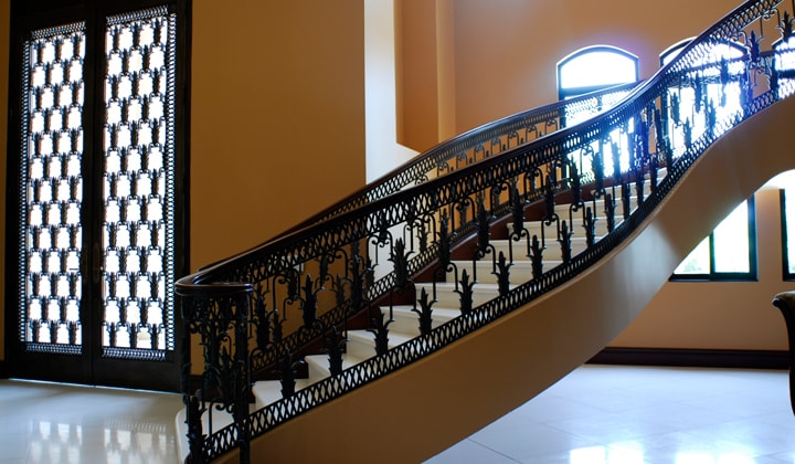 Custom Iron stair railings by Art Boulle , Bridal Path