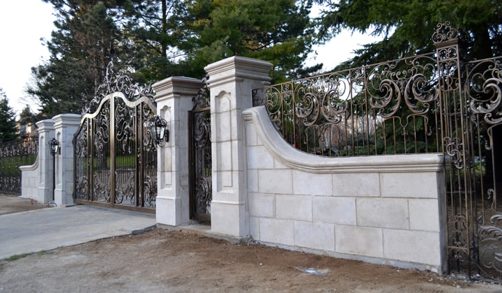 Artistic wrought iron gates ,Mississauga