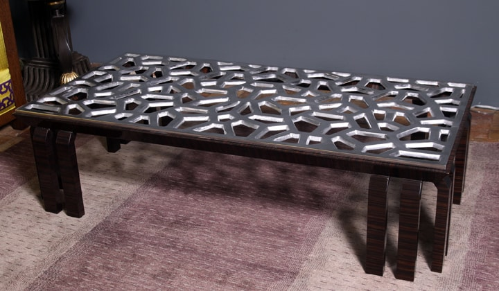 High end custom order coffee table by Art Boulle