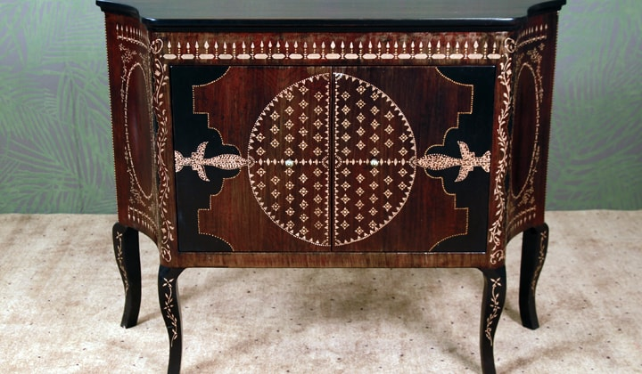 High end unique furniture by Art Boulle, console table
