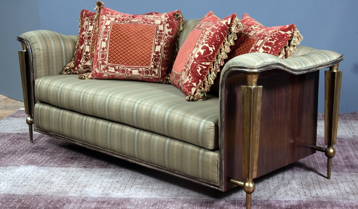 Custom made unique sofa by Art Boulle