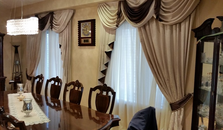 Dining Room custom order draperies, New Market