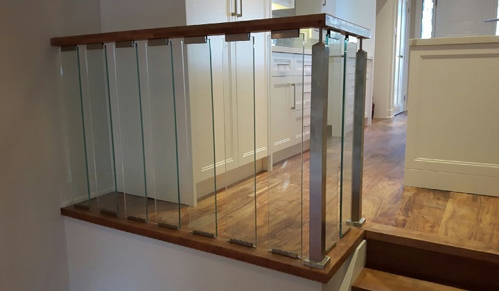 Glass Stairs Railing, Full House Renovation - Pyramid Home Improvement